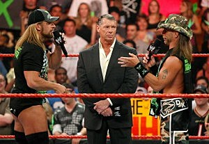 Triple H, Vince McMahon, Shawn Michaels