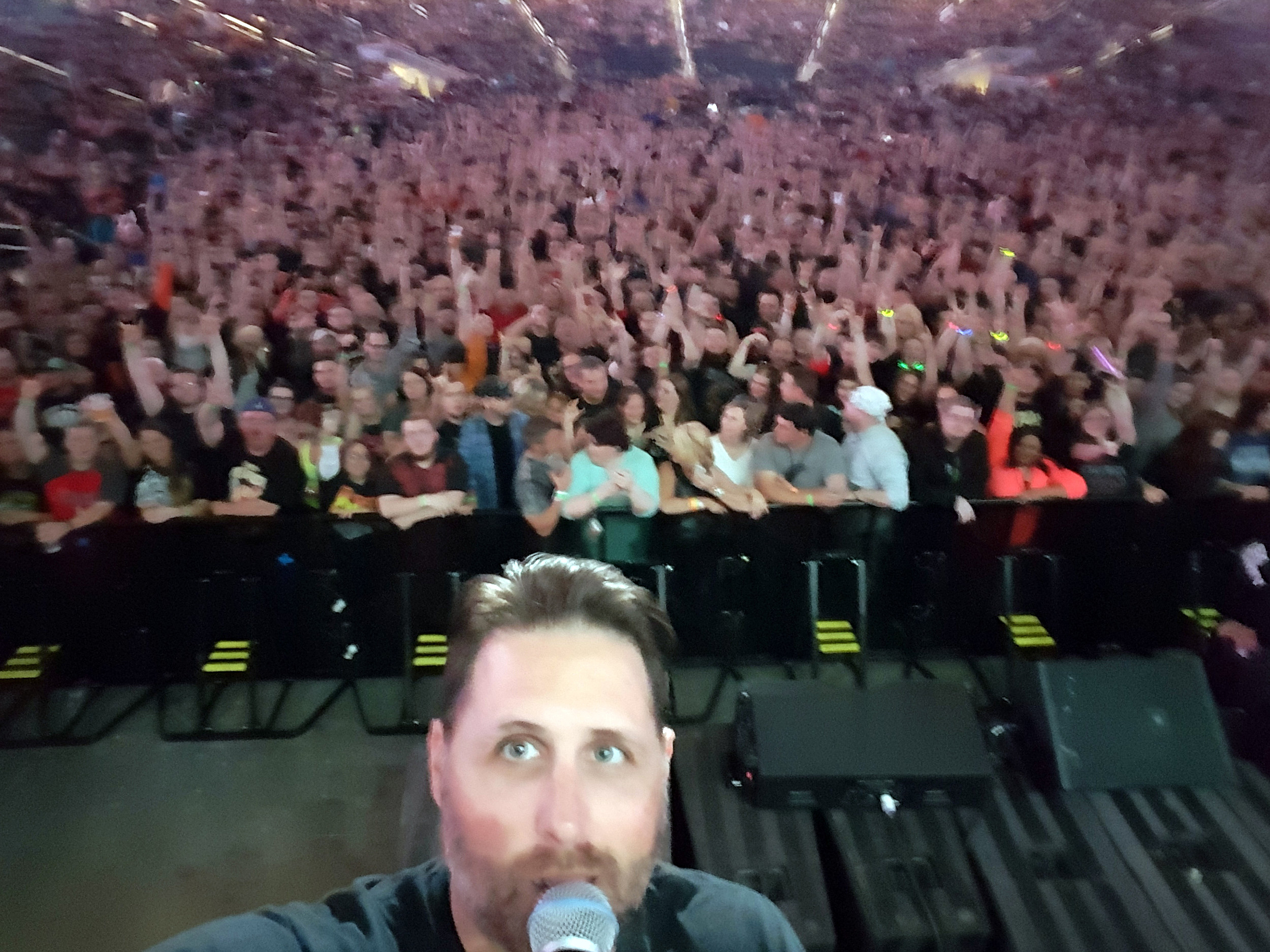 Selfie with the crowd