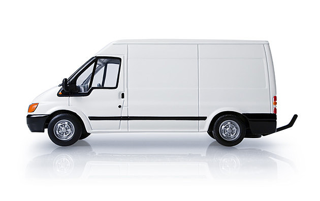 Delivery van - side view